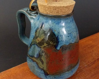 Stoneware Travel Mug With Cork ~ Red Hot Chili Pepper Design ~