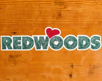 Heart Redwoods | Sticker