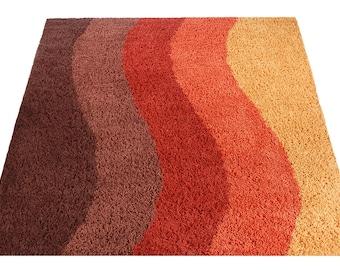 Mid-century Danish modern Rya style shag rug / carpet Sz5*7