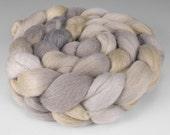 Polwarth Silk Top, Handpainted, 4 oz., Weathered Wood