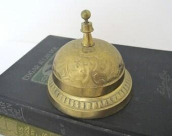 Vintage Brass Desk Bell, Service Call Bell