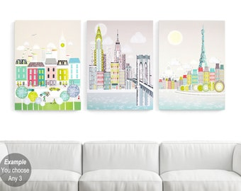 LARGE Canvases, Large Wall Art Canvases, Big Wall Art, Pick any image in my shop: New York, London, Paris, Chicago, San Francisco, Rome
