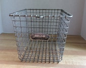 Vintage Wire Locker Basket (No. 283)