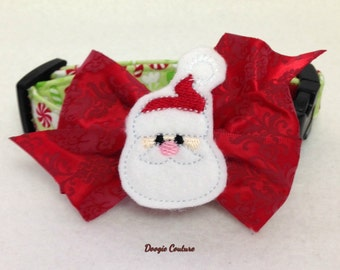 CIJ Santas Candy Christmas Dog Collar Size XS through Large by Doogie Couture