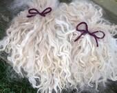 Suri Alpaca Locks, 6-7 Inches, White, 2 Ounces, Chantilly Lace
