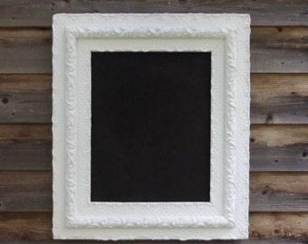 Vintage Wood and Gesso Framed Chalkboard Large Vintage Chalkborad