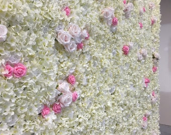 Flower Wall Backdrop Weddings and Events 8' by 8'