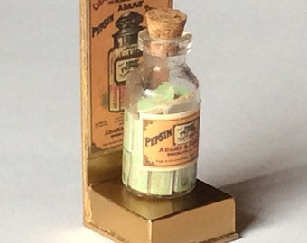 1/12 Scale Miniature Vintage Gum Candy Display