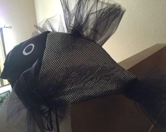Black & Silver beta fish costume