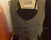 Vivienne Westwood Anglomania designer vintage punk circus railroad stripe tailored vest S/M