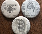 Beekeeping Vintage Dictionary Magnet Set of 3