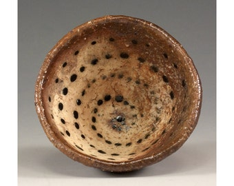 Unique Footed Ceramic Wood Fired Pinch Bowl by Jenny Mendes