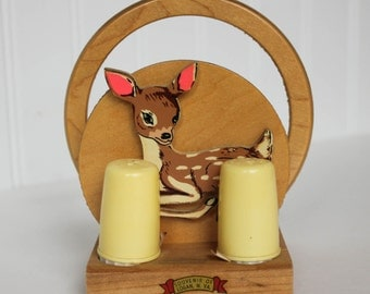 Deer Fawn Napkin Holder with Salt and Pepper Shaer