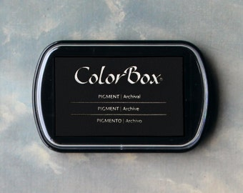 Black Stamp Pad (Black) // Pigment Archival Ink // ColorBox