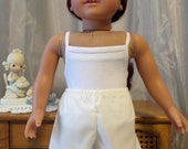"""Signature Collection - 6"""" White Below Knee Length Pantaloons - 18 Inch Doll Clothes - Fits American Girl Doll - 2503"""