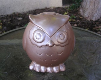 Baby Owl Bank Cocoa Brown