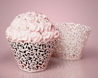 Lace Cupcake Wrappers - 24ct