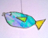 Stained Glass Fish Suncatcher, Kid's Drawing Series