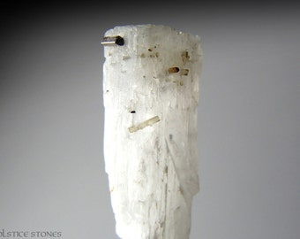 Rare Natrolite with Dravite Tourmaline, New Discovery // Crown Chakra // Crystal Healing // Mineral Specimen