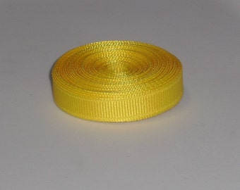 Yellow 3/8 inch Solid Grosgrain Ribbon 10 yards