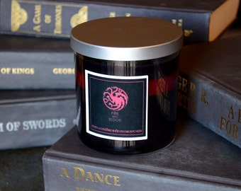House Targaryen Game of Thrones Candle