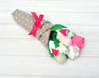 Baby Shower Gift, Girl Baby Gift, Maternity Gift, Baby Girl Clothes, Baby Bouquet, Newborn Girl Gift, Baby Flower Bouquet