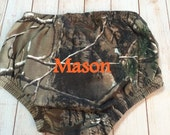 Boys Monogrammed Camo Diaper Covers Real Tree Knit Diaper Cover Personalized