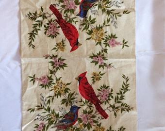 Cardinal Parisian Prints Linen Towel
