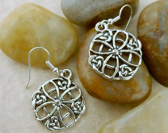 Silver Irish Cetlic Knot earrings