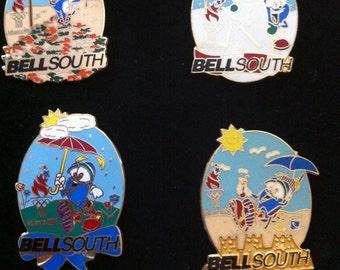1996 Olympic Bellsouth Four Season Pin Set