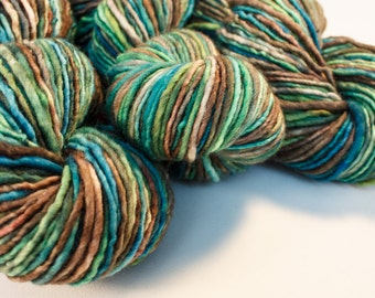 Fjord: The Nordic Series - Hand Dyed Wool Worsted Weight Single Ply Yarn on Swift Fox Base