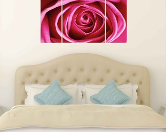 Canvas Prints -  Flower Canvas Wall Art - Canvas Prints of Red Rose -  Flower Canvas Print - Framed Ready to Hang - Floral Prints On Canvas
