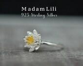 """925 Sterling Silver Ring """"LOTUS"""""""