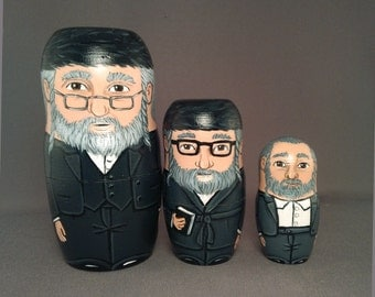 Hasidic Jew Nesting Dolls - Set of 3