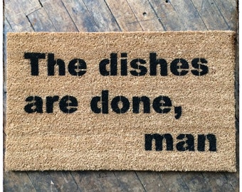 Babysitters Dead, dishes are done doormat funny novelty floor mat