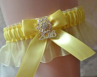 Prom Garters- 2017 Prom Garter-Yellow Prom Garter- Custom Color Prom Garter