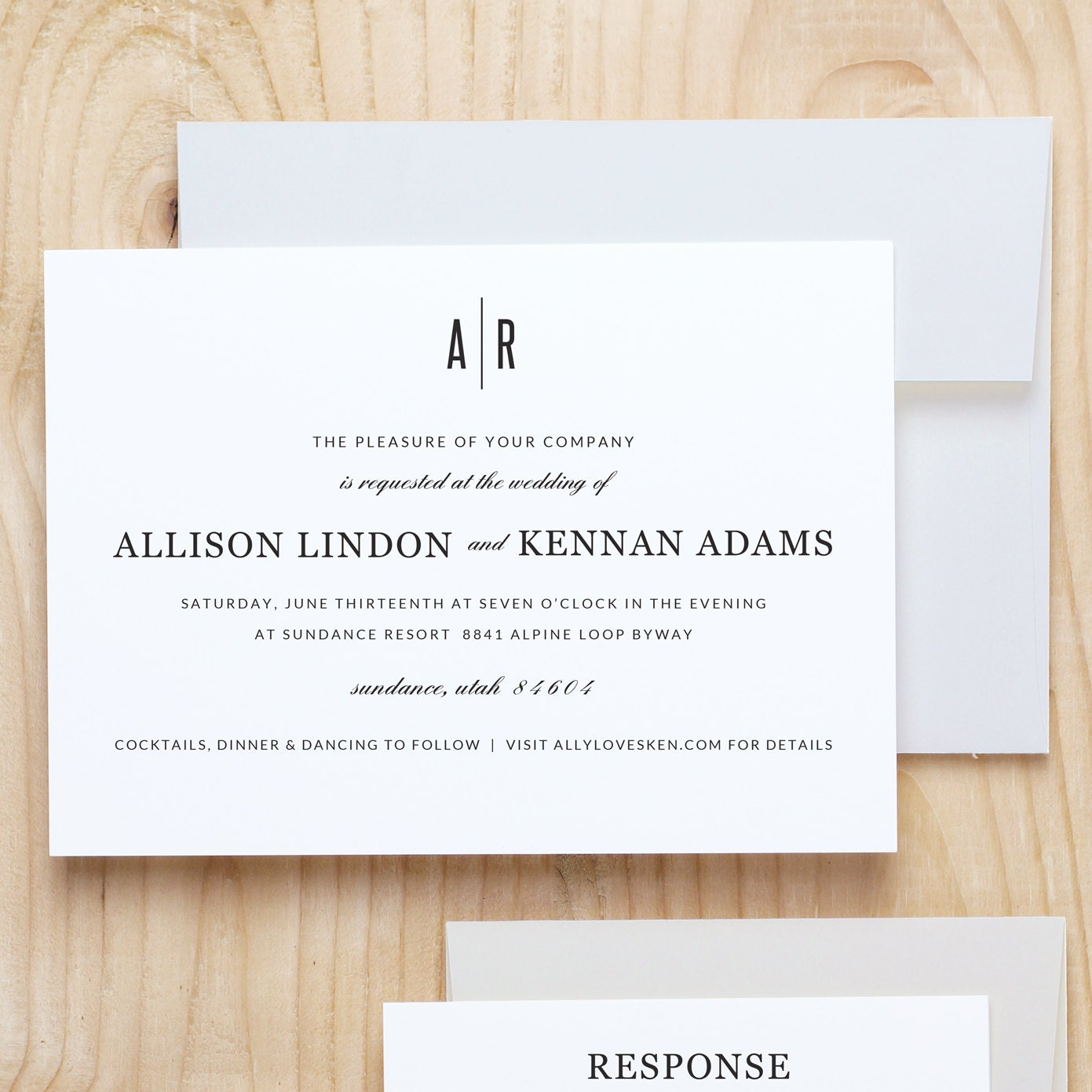 Instant DOWNLOAD Printable Wedding Invitation Template | Modern ...