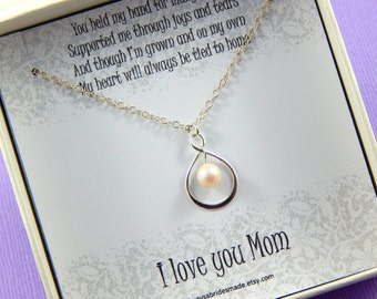 Mother Of The Bride Gift - Gift Boxed Jewelry Thank You - Gift Pearlescent White