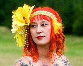 Crystal Sunshine Headdress by Willow