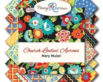 Church Ladies Aprons  15 Fat Quarters precuts by Penny Rose 100% cotton fabric for quilting