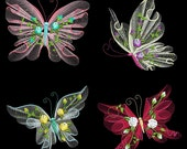 FLUTTERBY LUV #1 Full Pack- 30 Machine Embroidery Designs Instant Download 4x4 5x7 6x10 hoop (AzEB)