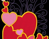 SWEETHEARTS #9- 1 Machine Embroidery Design Instant Download 4x4 5x7 6x10 hoop (AzEB)