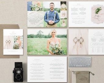INSTANT DOWNLOAD! Photography Marketing Templates - Branding Kit - Marketing Set and Photographer Magazine Template - Pricing Guides