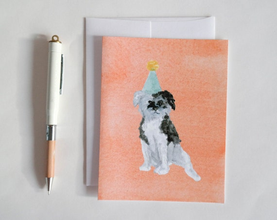 Greeting Card: Party Dog V