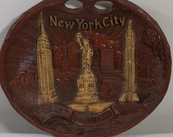 Vintage Arrow New York City Wall Plaque - NYC Souvenir
