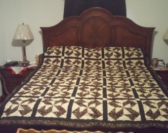 Handmade queen size quilt