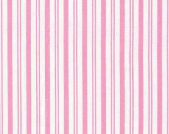 Sadie's Dance Card Pink Sky Stripe PWTW127-PINK Cotton Fabric by Tanya Whelan FreeSpirit