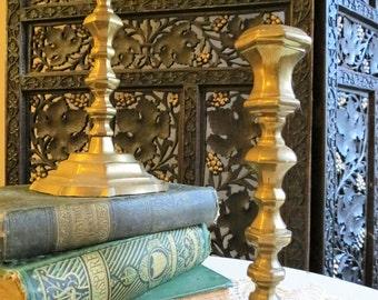 Vintage Solid Brass Candlestick Holders