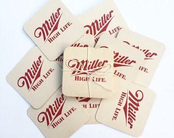 Vintage Miller High Life Coasters (Set of 12)