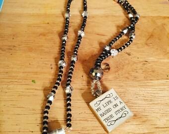 Life scrabble tile necklace